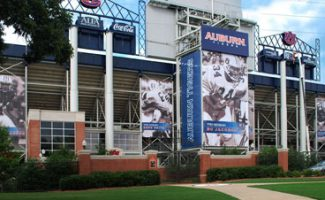 Custom Banners at Auburn University's Jordan Hare Stadium
