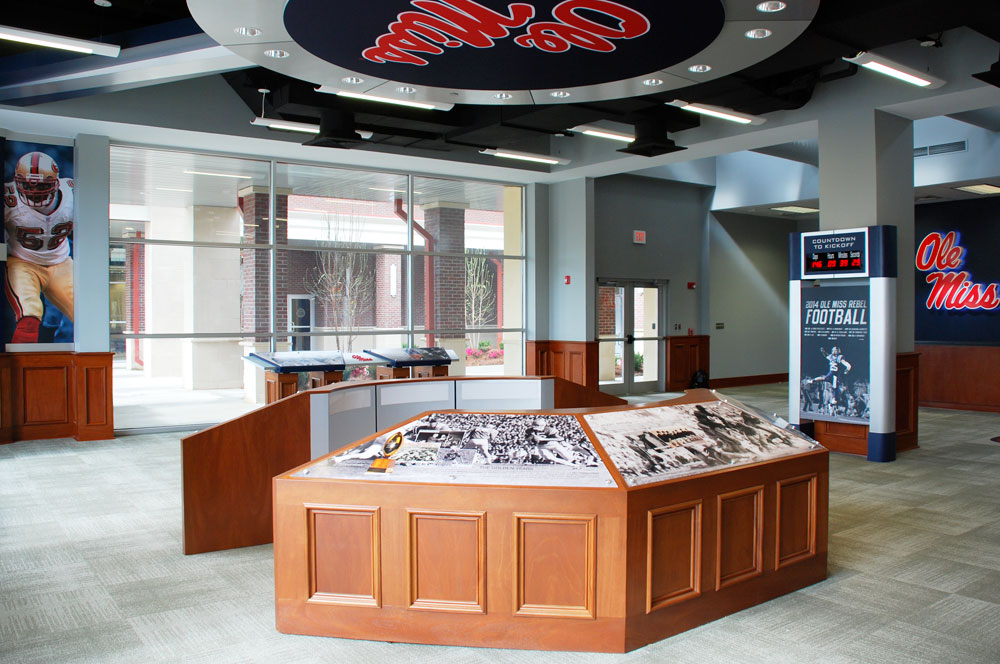 Environmental Graphics at Ole Miss's Athletic Facilities